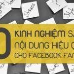 10 kinh nghiệm sáng tạo nội dung hiệu quả cho Facebook Fanpage